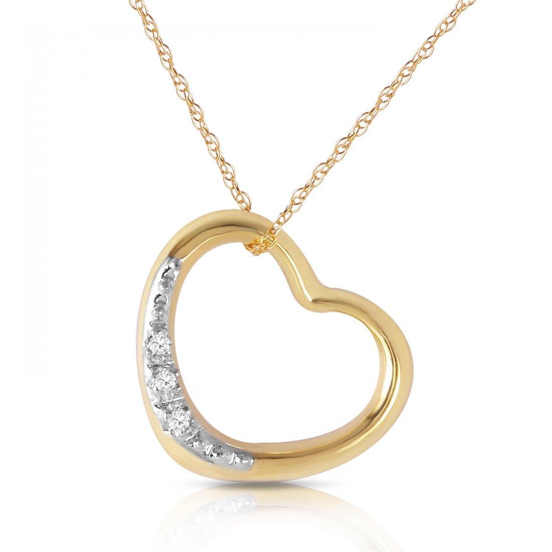 Genuine 0.03 ctw Diamond Anniversary Necklace Jewelry