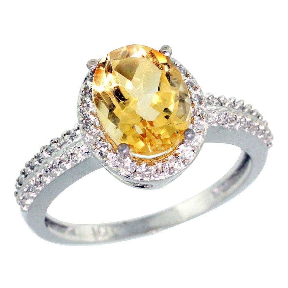 Natural 1.91 ctw Citrine & Diamond Engagement Ring 10K