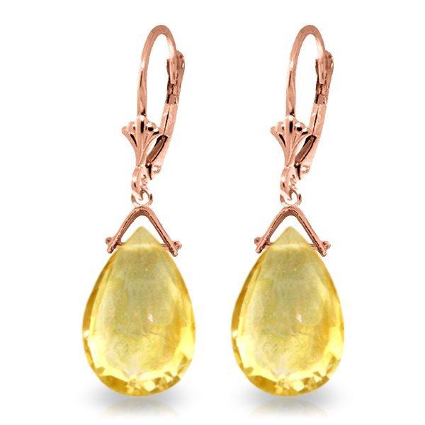 Genuine 10.20 ctw Citrine Earrings Jewelry 14KT Rose