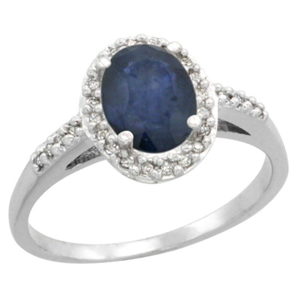 Natural 1.57 ctw Blue-sapphire & Diamond Engagement