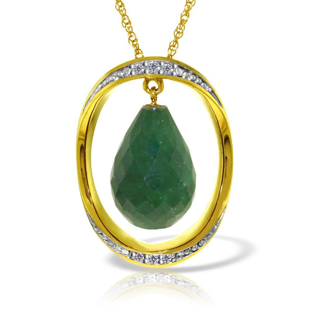 Genuine 13.6 ctw Sapphire & Diamond Necklace Jewelry
