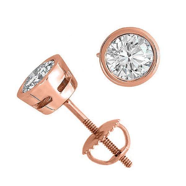 14K Rose Gold Jewelry 2.0 ctw Natural Diamond Stud