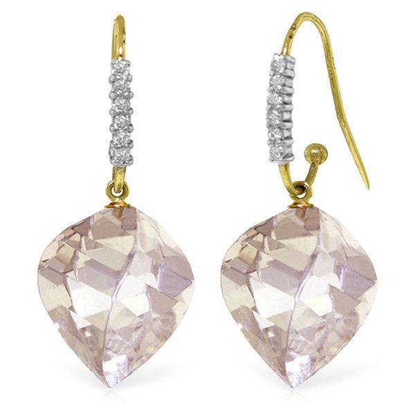 Genuine 25.78 ctw White Topaz & Diamond Earrings