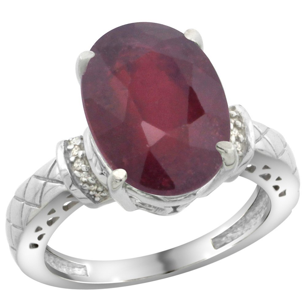 Natural 5.53 ctw Ruby & Diamond Engagement Ring 14K