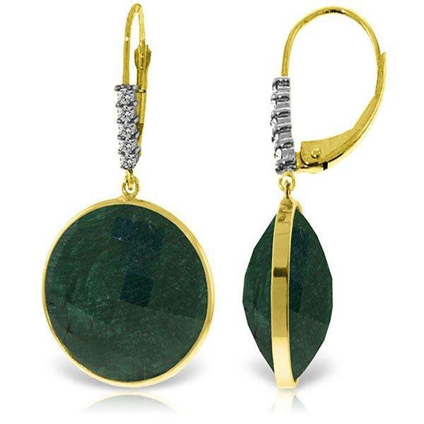 Genuine 46.15 ctw Green Sapphire Corundum & Diamond