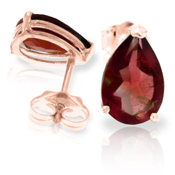 Genuine 3.15 ctw Garnet Earrings Jewelry 14KT Rose Gold