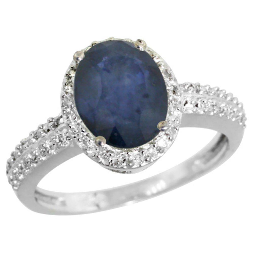 Natural 2.31 ctw Blue-sapphire & Diamond Engagement