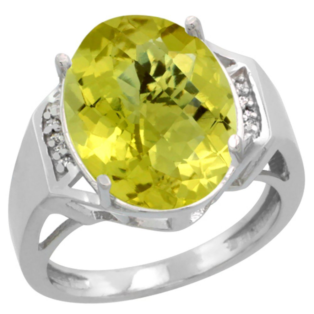 Natural 11.02 ctw Lemon-quartz & Diamond Engagement