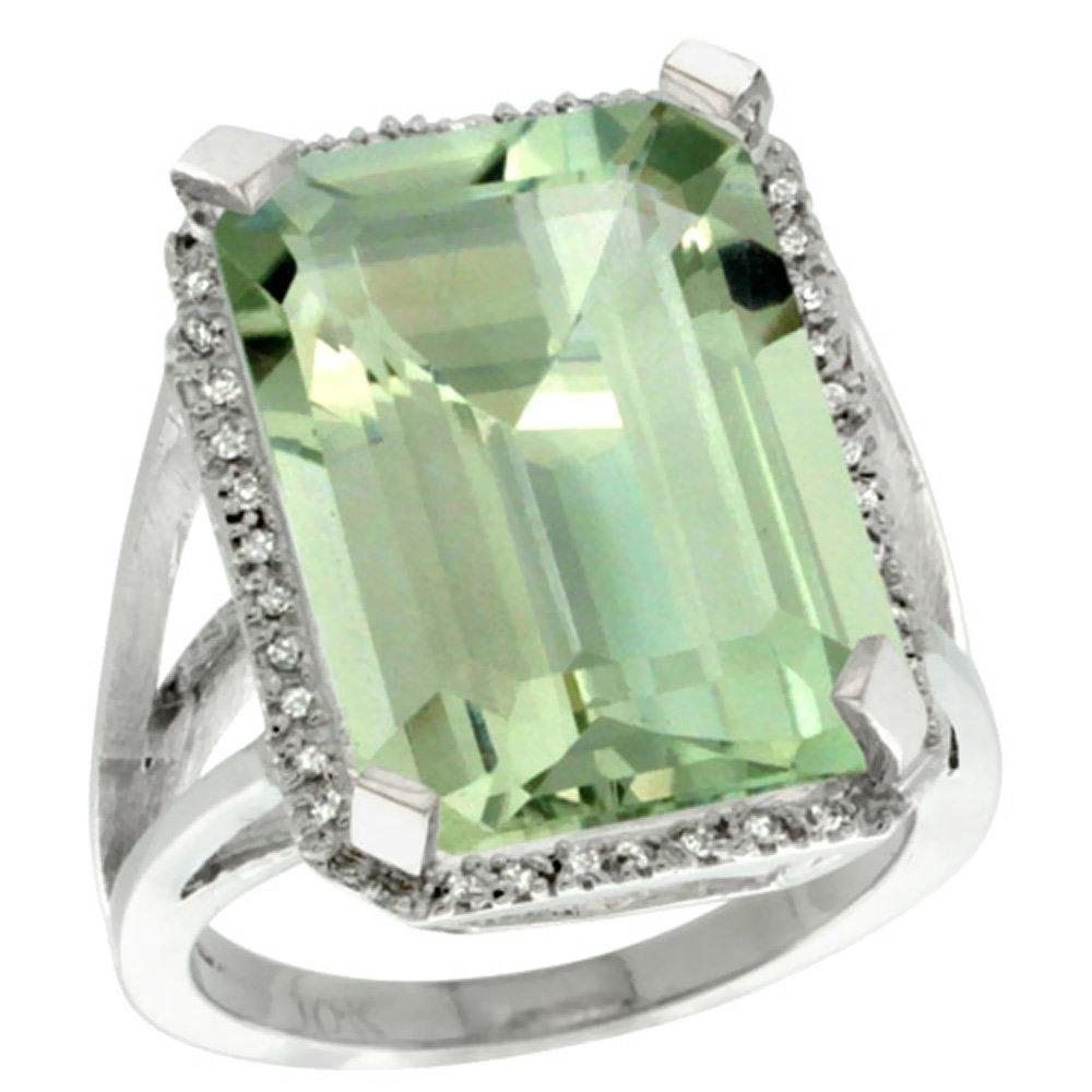 Natural 15.06 ctw green-amethyst & Diamond Engagement