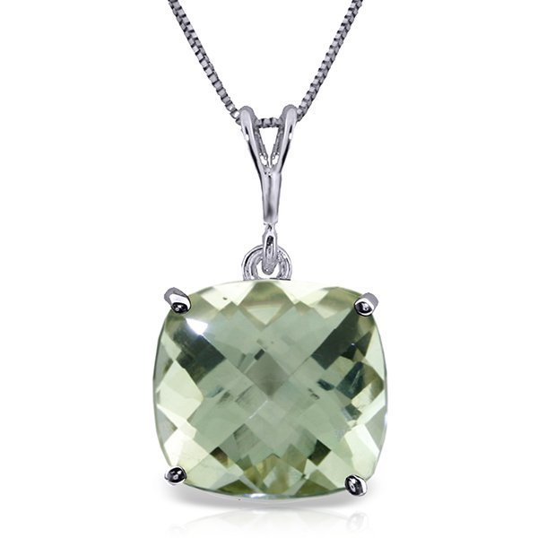 Genuine 3.6 ctw Green Amethyst Necklace Jewelry 14KT