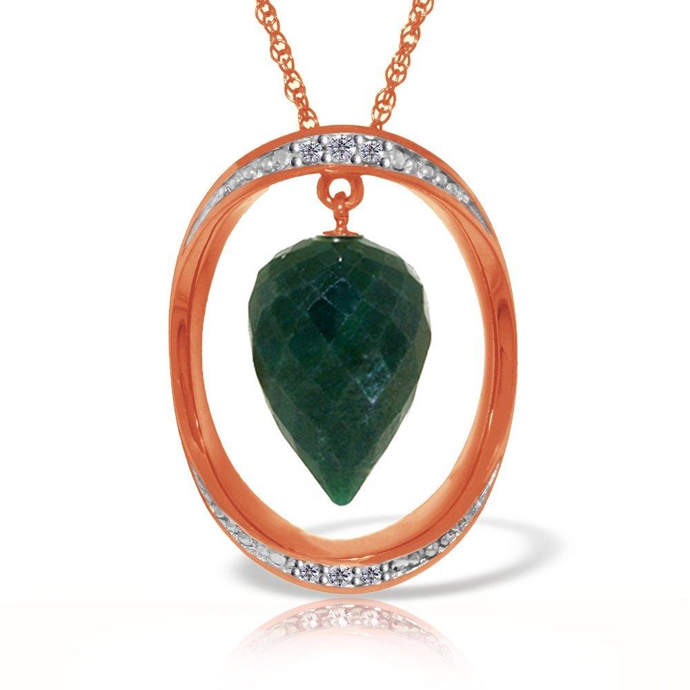 Genuine 13.1 ctw Sapphire & Diamond Necklace Jewelry