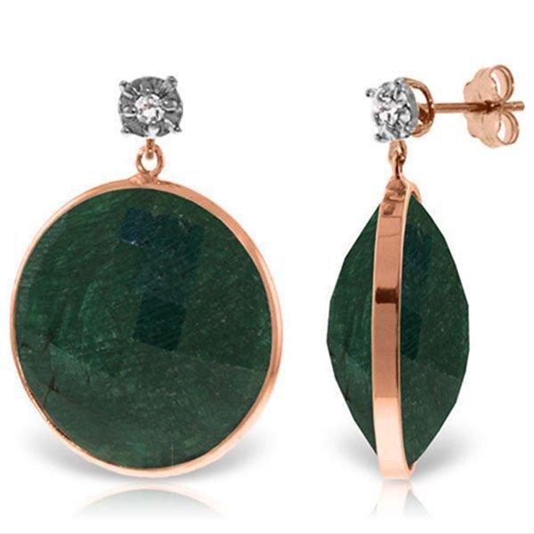 Genuine 46.06 ctw Green Sapphire Corundum & Diamond