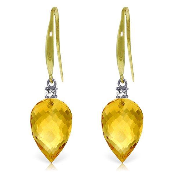 Genuine 19.1 ctw Citrine & Diamond Earrings Jewelry