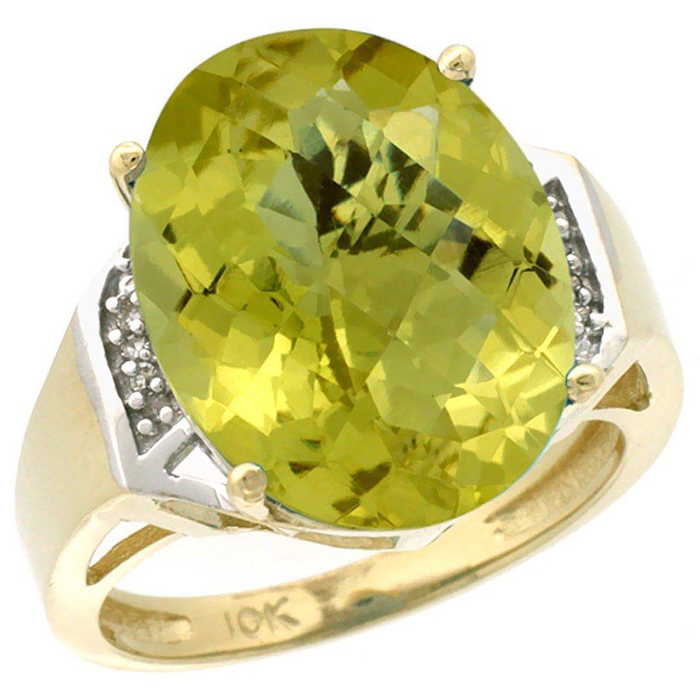 Natural 11.02 ctw Lemon-quartz & Diamond Engagement