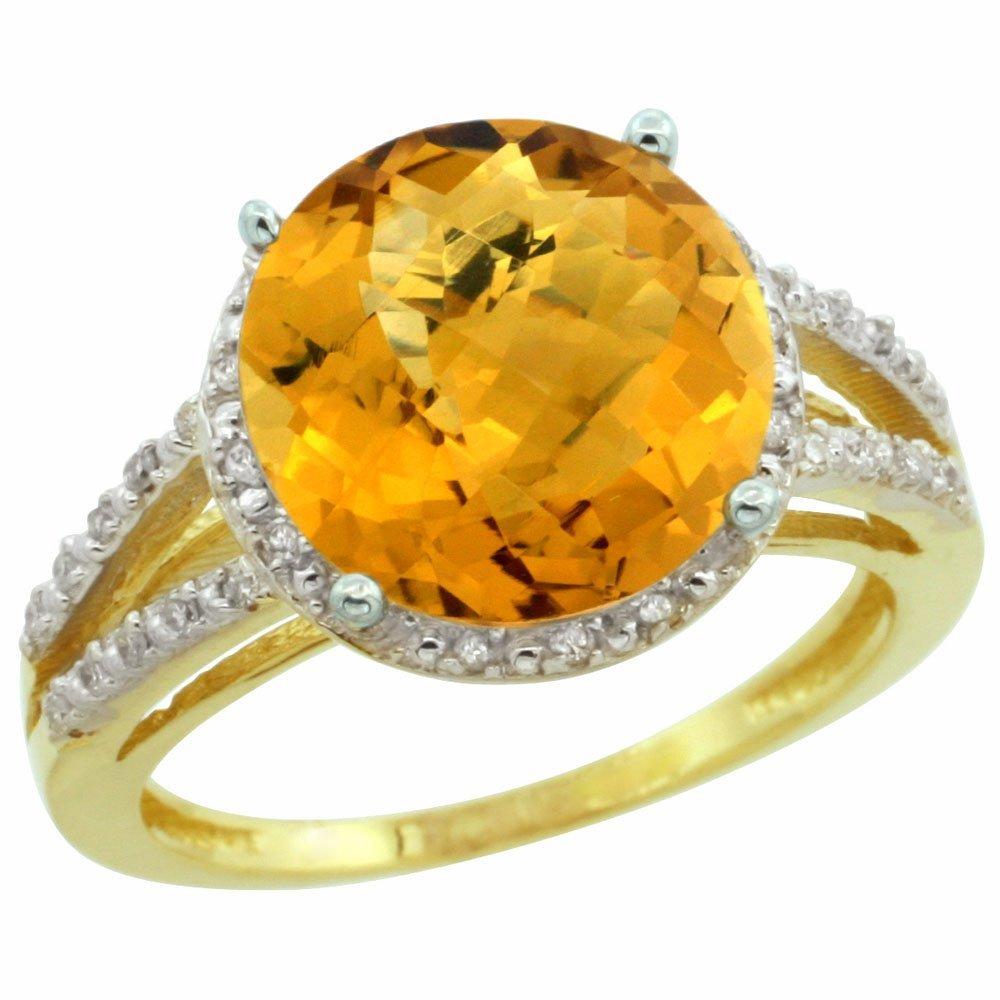 Natural 5.34 ctw Whisky-quartz & Diamond Engagement