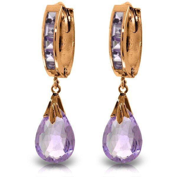 Genuine 6.85 ctw Amethyst Earrings Jewelry 14KT Rose