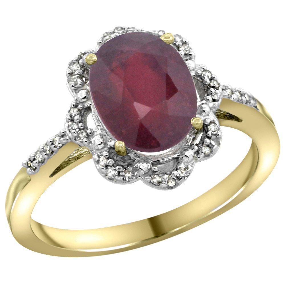 Natural 2.24 ctw Ruby & Diamond Engagement Ring 14K