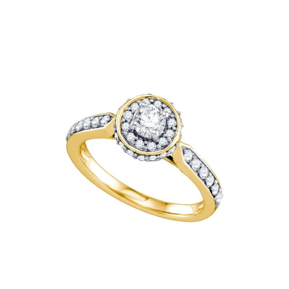 0.75 ctw Diamond Bridal Ring 14K Yellow Gold -