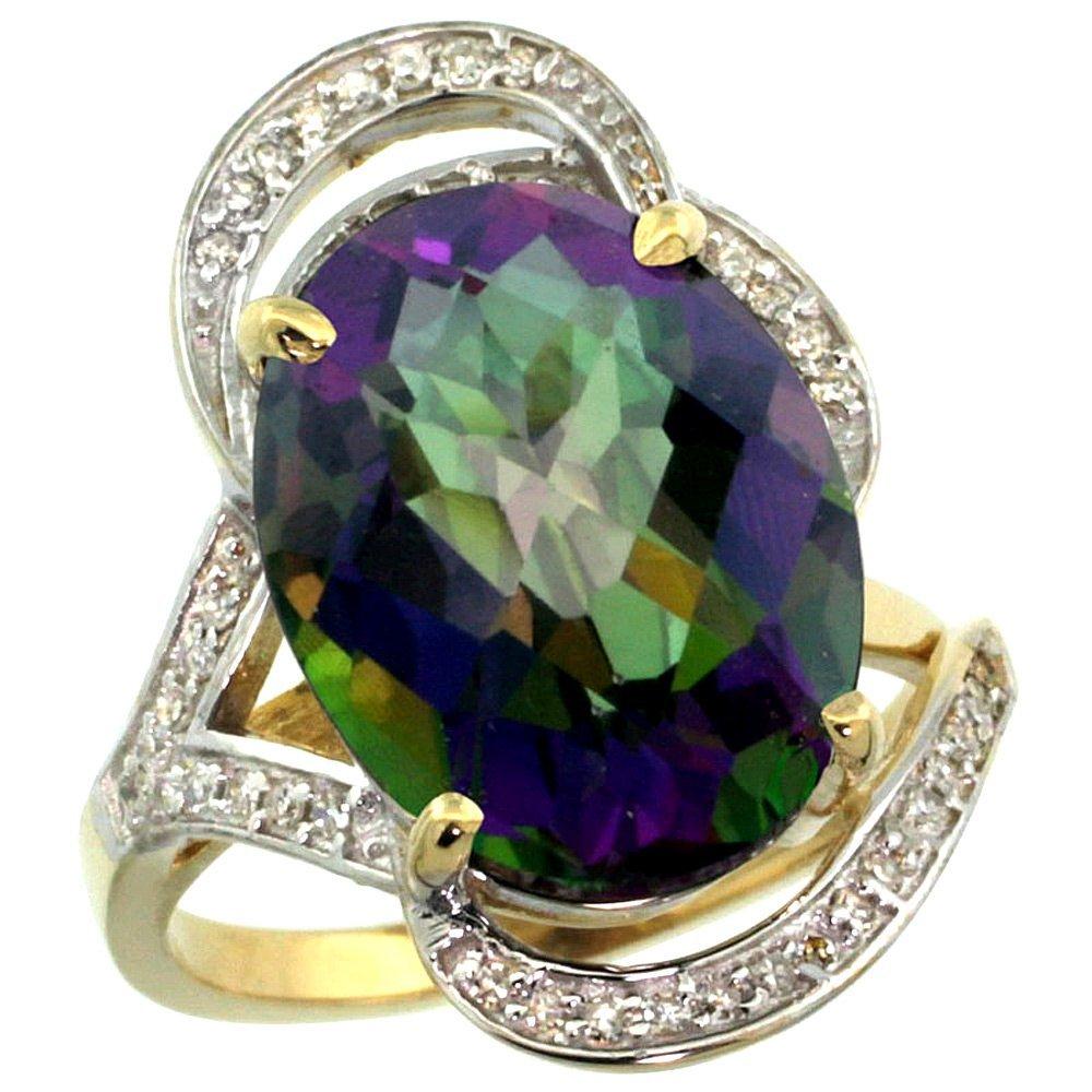 Natural 11.23 ctw mystic-topaz & Diamond Engagement