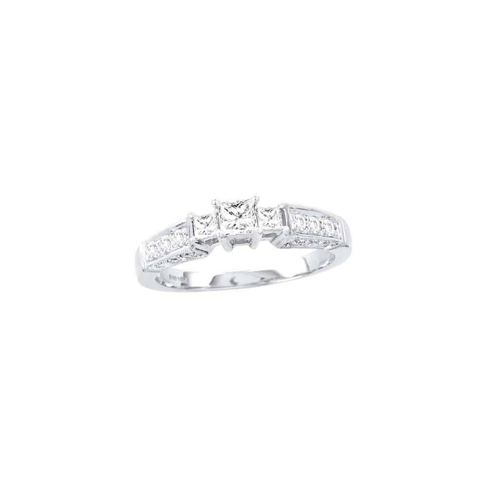 0.63 ctw Diamond Bridal Ring 14K White Gold -