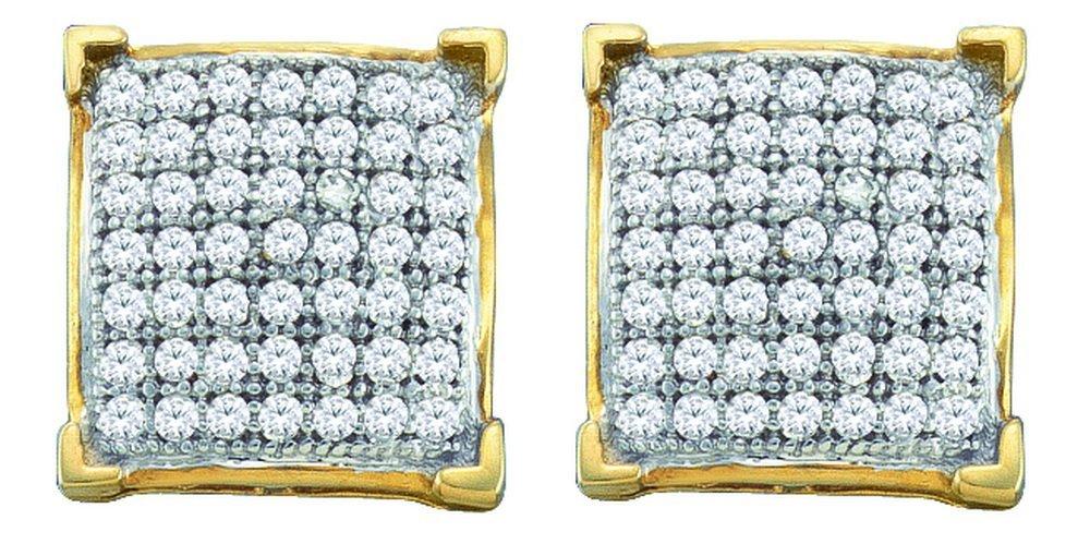 0.15 CTW Diamond Earrings 10KT Yellow Gold -