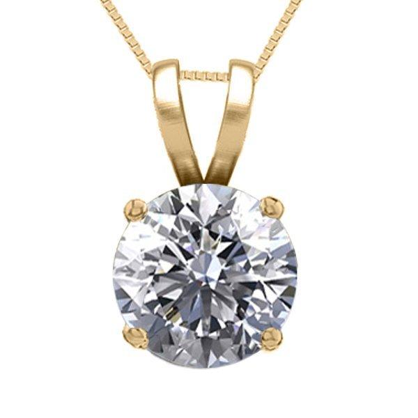 14K Yellow Gold Jewelry 0.76 ct Natural Diamond