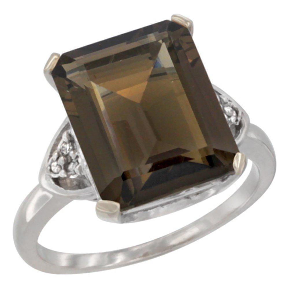 Natural 5.44 ctw smoky-topaz & Diamond Engagement Ring