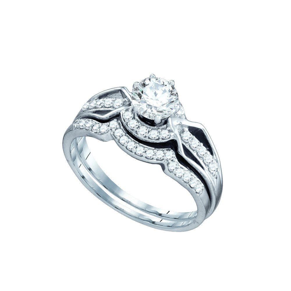 1.0 ctw Diamond Bridal Ring 14K White Gold -