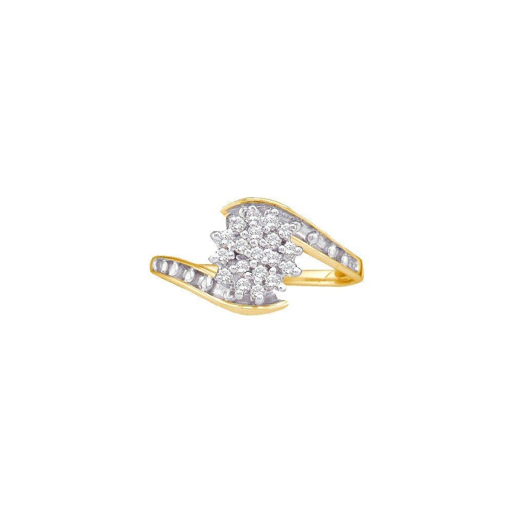 0.15 CTW Diamond Ladies Ring 10KT Yellow Gold -