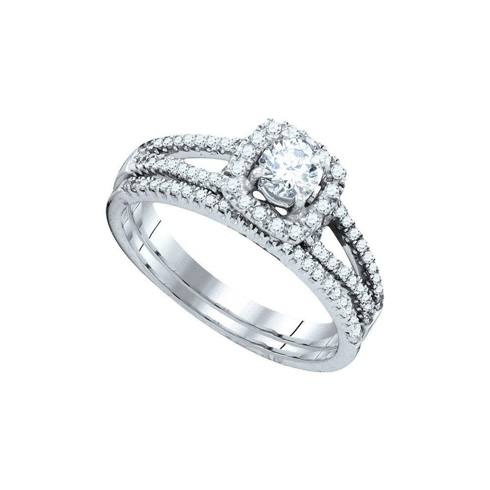 0.75 ctw Diamond Bridal Ring 14K White Gold -