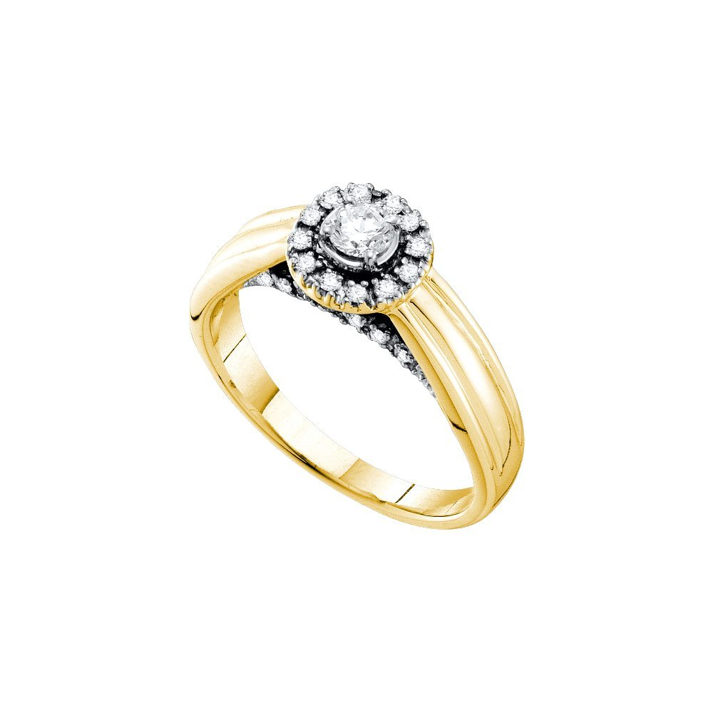 0.33 ctw Diamond Bridal Ring 14K Yellow Gold -
