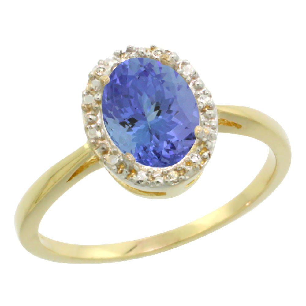 Natural 1.35 ctw Tanzanite & Diamond Engagement Ring