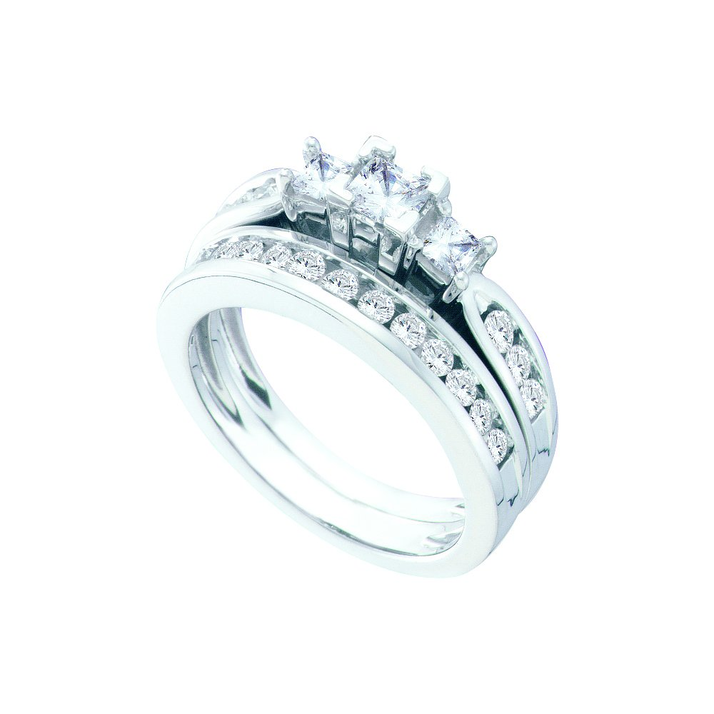 1.0 ctw Diamond Bridal Ring 14K White Gold -