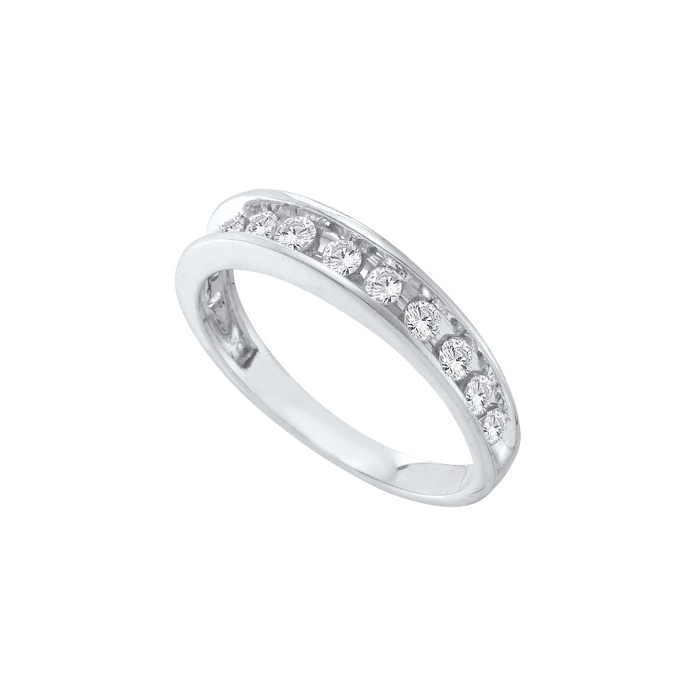 0.50 CTW Diamond Ladies Ring 14KT White Gold -