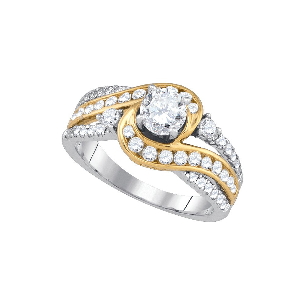 1.50 ctw Diamond Bridal Ring 14K White Gold -