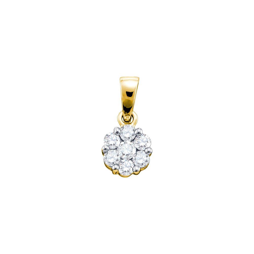 1 CTW Diamond Pendant 14KT Yellow Gold -