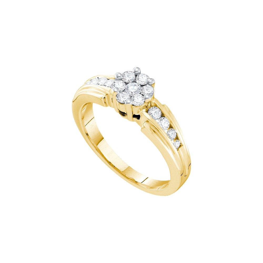 0.50 CTW Diamond Ladies Ring 14KT Yellow Gold -