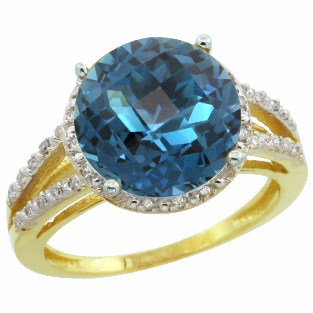 Natural 5.34 ctw London-blue-topaz & Diamond Engagement