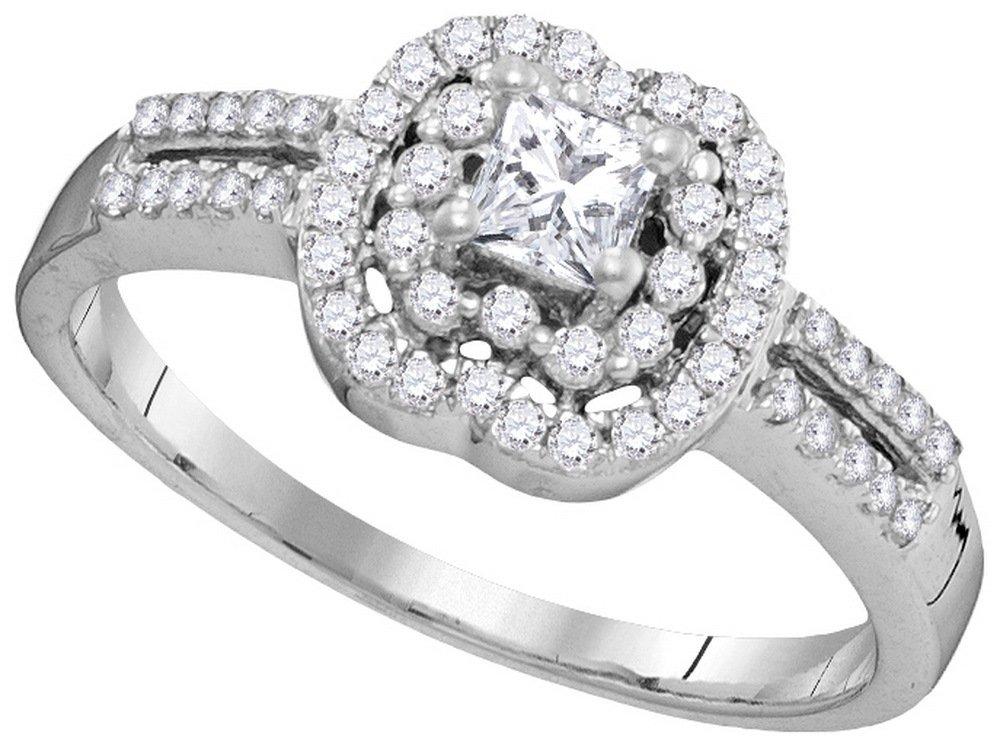 0.50 CTW Diamond Ladies Ring 10KT White Gold -