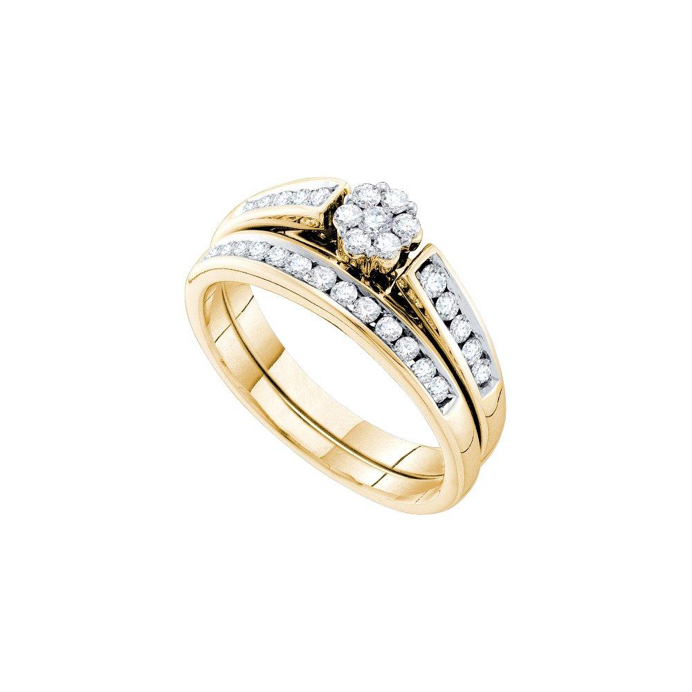 0.50 ctw Diamond Bridal Set Ring 14K Yellow Gold -