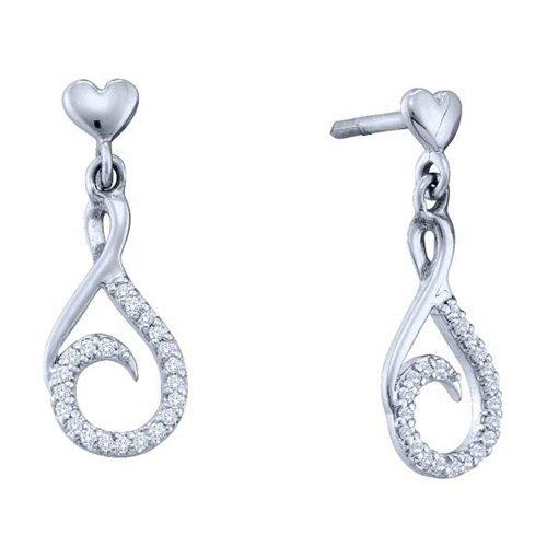 0.12CT Diamond Anniversary 10KT Earrings White Gold