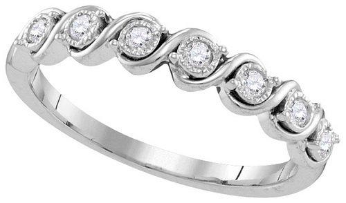 0.02CT Diamond Anniversary 10KT Ring White Gold