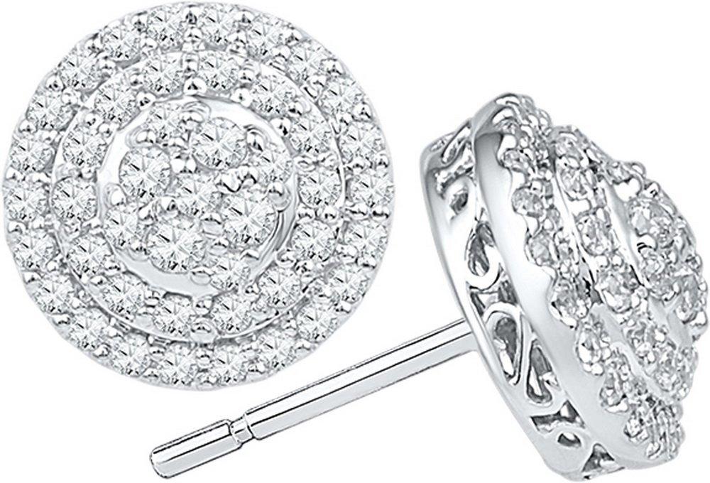 0.75CT Diamond Anniversary 10KT Earrings White Gold