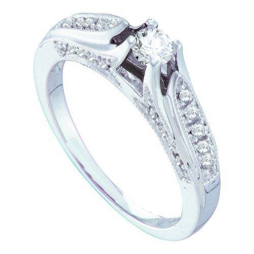 0.35CT Diamond Bridal 14KT Ring White Gold