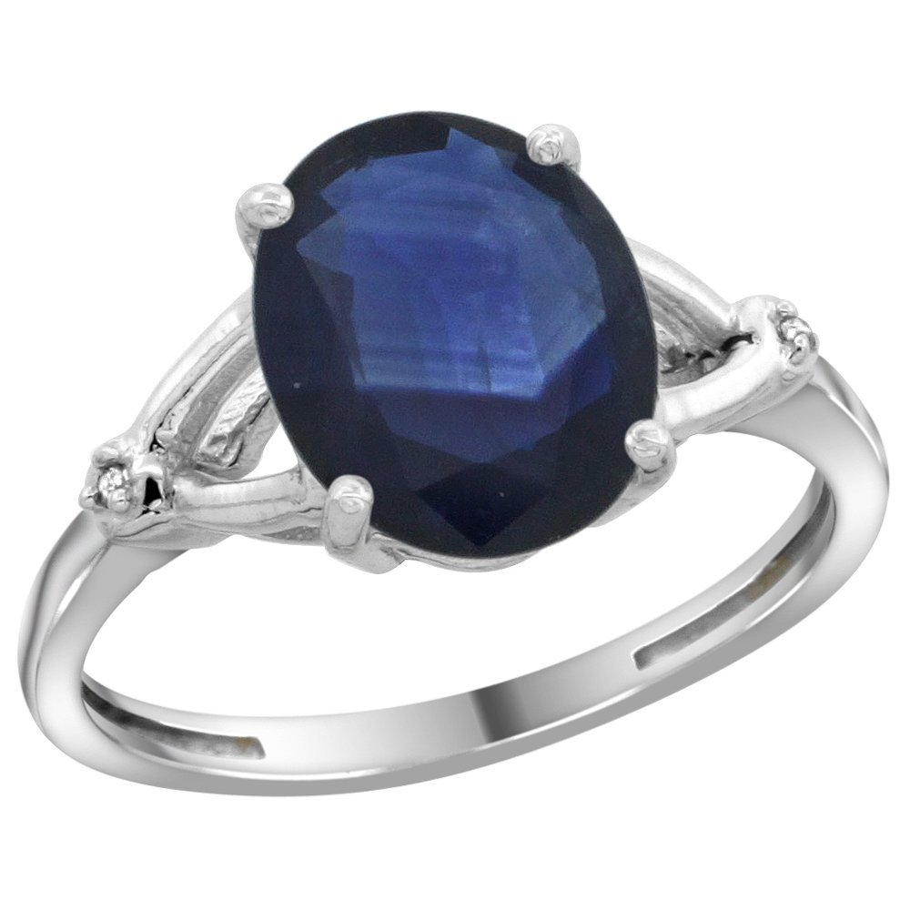 Natural 2.41 ctw Blue-sapphire & Diamond Engagement