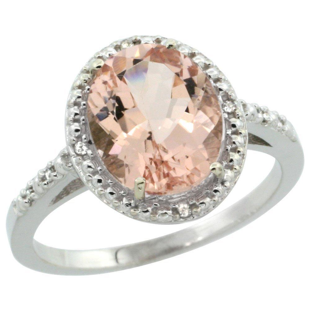 Natural 2.92 ctw Morganite & Diamond Engagement Ring