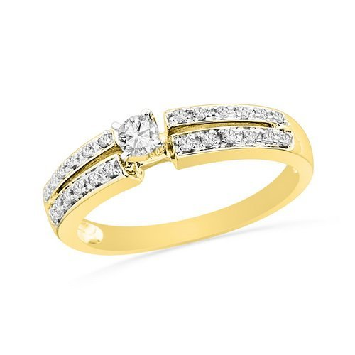 0.25CT Diamond Bridal 10KT Ring Yellow Gold