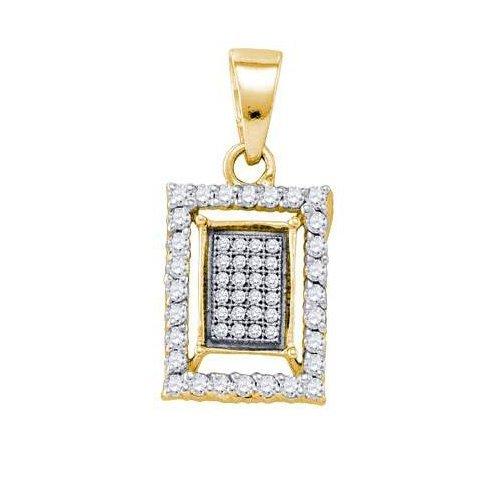 0.35CT Diamond Anniversary 10KT Pendant Yellow Gold