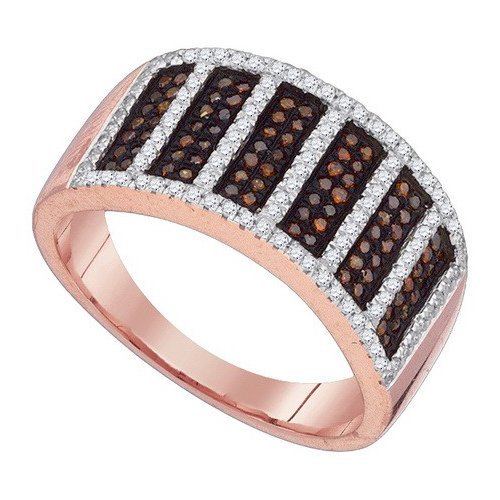0.50CTW White and Champagne Diamond Micro-Pave 10KT