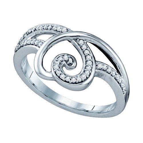 0.02CT Diamond Heart 10KT Ring White Gold